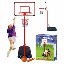 Basketball Set With Adjustable Stand 261c Free Standing  Hoop Net Backboard Ball