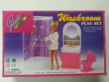 Gloria, Barbie Doll House Furniture/(98020) Washroom Play Set