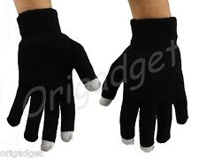 GUANTI TOUCH SCREEN SMARTPHONE IPHONE IPAD IPOD TABLET CONDUTTIVI GLOVES neri L