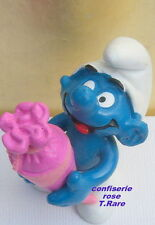 20220 Schtroumpf cornet confiserie rose Smurf pitufo puffo puffi varianteT.rare