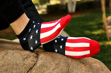 3 pairs American Flag Men's Cotton Stars & Stripes USA Socks Old Glory Casual