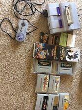 Modified Snes Console Bundle With 8 Super Famicom Games Controller And Hookups