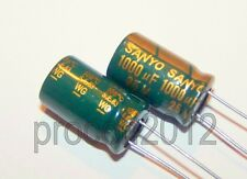 2 x 1000UF 25V 105°C Sanyo LOW ESR  WG Motherboard Capacitors 10X16