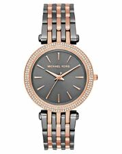 MICHAEL KORS Women's Darci Rose Gold Gunmetal Watch 39mm MK3584 NWT