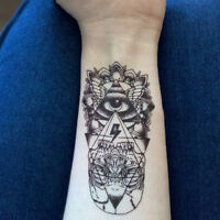 2x Waterproof Temporary Tattoo Sticker God Eye Totem Body Art Fake Tattoos HC