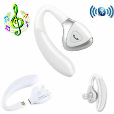 White Wireless Bluetooth Stereo Headset For LG G4 Apple iPhone 6 Plus 5S HTC M9