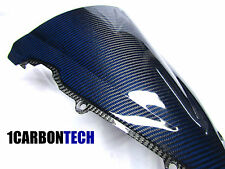 2003-2009 YAMAHA YZF R6 R6S CARBON FIBER AND BLUE KEVLAR WINDSCREEN