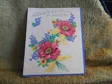 """Vintage Birthday Card Greetings Inc. T-5291, From 1950 """"Wish for Happiness"""""""