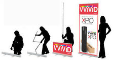 "Retractable Advert Banner Stand 32"" x 79"" Display Sign Wholesale Model CL-R-S-3"