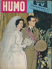 HUMO 1059 (22/12/60) LE ROI BAUDOUIN LA REINE FABIOLA AZZAM FERNANDEL MONTAND