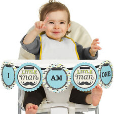 Dashing Little Man Mustache Party - High Chair Birthday Party Banners
