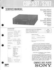 Sony Original Service Manual für CDP-S 37 / S 207