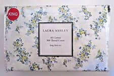 LAURA ASHLEY KING SIZE 4PC SHEET SET COTTAGE FLORAL TILLY BLUE YELLOW NEW