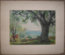 Seymour Snyder Impressionist Farm Landscape Listed New York Artist Illustrator