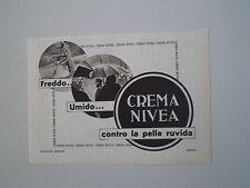advertising Pubblicità 1938 CREMA NIVEA