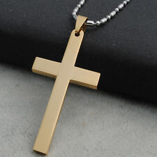 Charm Cross Pendant for DIY Unisex Necklace Gold/Silver Stainless Steel Jewelry