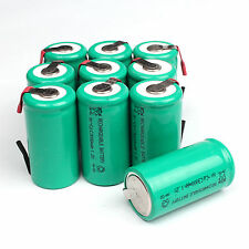 Lot of 10pcs 3000mAh Ni-CD C 1.2V Rechargeable Battery with Tab univerisal