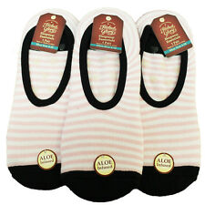 NEW 3 Pair Terry Ballet Aloe Infused Women's Slippers/Socks 9-11 Shoe Size 4-10