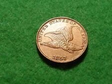 UNITED STATES 1857 flying eagle small cent a/Unc GRADE  FREEPOST