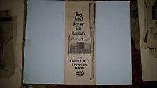 Babe Ruth 1954 Louisville Slugger Advertisement Ad Hall of Fame Cooperstown NY
