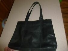 Territory Ahead Black Leather DURABLE Tote Bag Handbag Purse Hobo Satchel Large