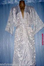 Thai Silk Kimono / Robe / Dressing Gown / White