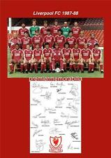 LIVERPOOL FC 1987-1988 KENNY DALGLISH JOHN ALDRIDGE BEARDSLEY SIGNED (PRINTED)