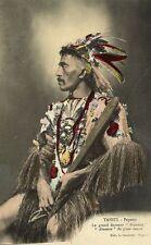 french polynesia, TAHITI, Le Grand Danseur Atuanui, Great Dancer (1910s)