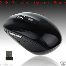Portable 2.4GHz USB Wireless Optical Mouse Mice For Computer PC Laptop Black