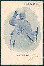 Roma Vaticano Papa Leone XIII PIEGHINA STRAPPINO cartolina XB1362