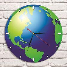 Reloj de pared diseño de color mapa mundial de tierra disco de vinilo Home Shop Colector De Oficina