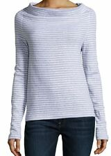 NWT James Perse Striped Funnel Pullover Top $145 – Size 3 Large