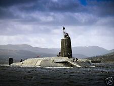 "Royal Navy Vanguard Class Submarine HMS Vigilant Returns HMNB Clyde 10x8"" Photo"