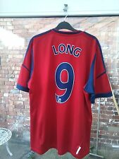 WEST BROMWICH ALBION FC LONG 9 ZOOPLA  ADIDAS RED & BLUE FOOTBALL SHIRT XL VGC