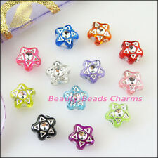 180Pcs Mixed Acrylic Plastic Five-pointed Star Spacer Beads Charms 7mm