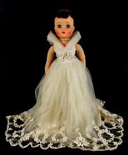 "Vintage 1959 Madame Alexander ELISE Brunette Wedding Bride Tagged Dress 16"" Doll"