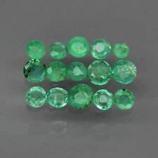 1.28 CT 15 PIECES ÉMERAUDES COLOMBIE 2.1-3.3 mm pierres précieuses fines 14719