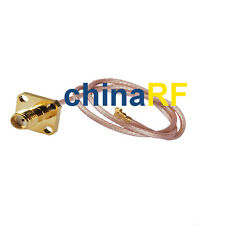 RF SMA Female jack with 4 hole to U.fl/IPX Pigtail Antenna Cable Rg178 25cm WiFi