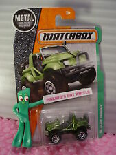 CLIFF HANGER #124☆Green/gray; white star, scout☆2016 Matchbox☆ case J