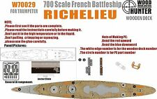 Hunter 1/700 W70029 Wood deck French Richelieu for Trumpeter