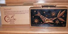 "Vtg 1965 Enid Collins Box Purse ""Roadrunner"" Handbag original Dustcover 12 by 7"