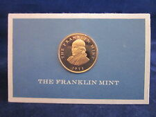 FRANKLIN MINT 1971 Business Card with Bronze Medal ~ Charles L. Andes President