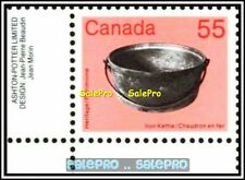 CANADA 1987 CANADIAN ARTIFACTS IRON KETTLE FV FACE 55 CENT MNH CORNER STAMP