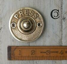 1 SOLID BRASS ANTIQUE STYLE DOOR BELL PUSH PRESS BUTTON FRONT DOOR HOUSE