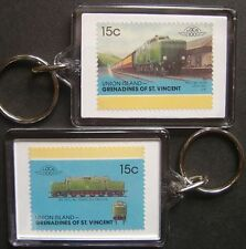 1951 BR The Fell Locomotive Diesel Train Stamp Keyring (Loco 100)