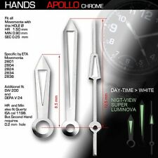 HANDS SET FOR MOVEMENT ETA  2824-2, 2836-2, SUPER LUMINOUS APOLLO