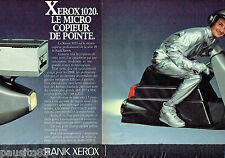 PUBLICITE ADVERTISING 056  1983   le micro-copieur Xerox 1020 (2p)