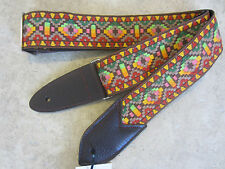 JODI HEAD Handmade Woven Guitar Strap / HOOTENANNY #6 Navajo Multicolor Brown