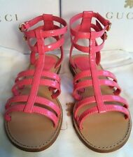 BNWB Girls Gucci Gladiator Pink (Rose Blush) Sandals / Shoes Size 32 UK 13