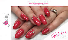 Vernis semi permanent Gel'in soakoff color gel polish n°27 RED PINK 15ml usa
